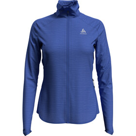 Odlo Steam Midlayer Doorlopende Rits Dames, amparo blue melange